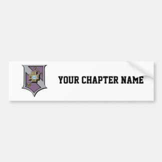 Sigma Pi Shield 4-Color Bumper Sticker