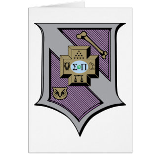 Sigma Pi Shield 4-Color Card