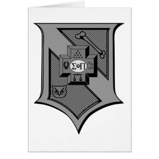 Sigma Pi Shield Grayscale Card