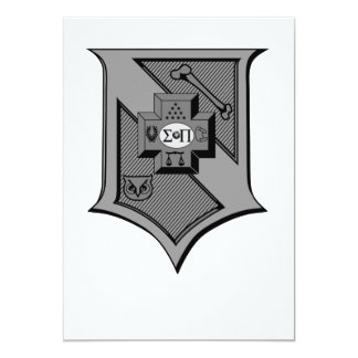 Sigma Pi Shield Grayscale Card