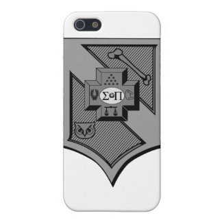 Sigma Pi Shield Grayscale Case For iPhone 5/5S