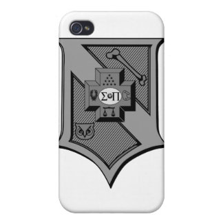 Sigma Pi Shield Grayscale Cases For iPhone 4