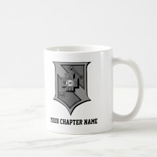Sigma Pi Shield Grayscale Coffee Mug