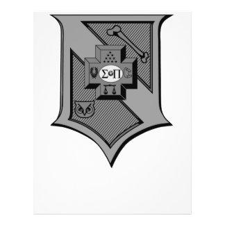 Sigma Pi Shield Grayscale Flyer