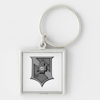 Sigma Pi Shield Grayscale Key Ring