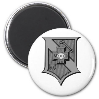 Sigma Pi Shield Grayscale Magnet