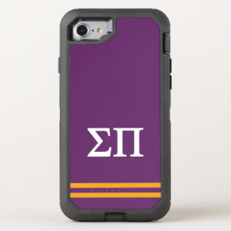 Sigma Pi | Sport Stripe OtterBox Defender iPhone 8/7 Case