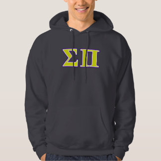Sigma Pi Yellow and Purple Letters Hoodie