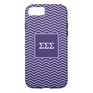 Sigma Sigma Sigma | Chevron Pattern iPhone 8/7 Case