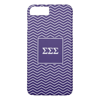 Sigma Sigma Sigma | Chevron Pattern iPhone 8 Plus/7 Plus Case