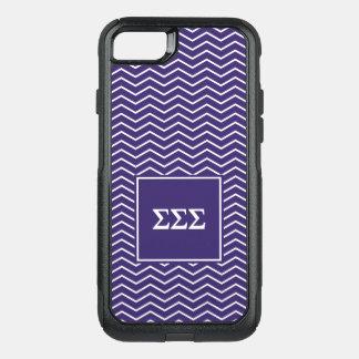 Sigma Sigma Sigma | Chevron Pattern OtterBox Commuter iPhone 8/7 Case