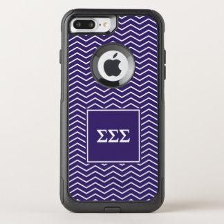 Sigma Sigma Sigma | Chevron Pattern OtterBox Commuter iPhone 8 Plus/7 Plus Case