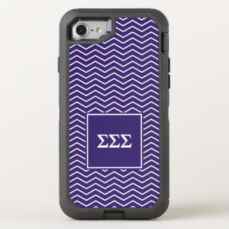 Sigma Sigma Sigma | Chevron Pattern OtterBox Defender iPhone 7 Case