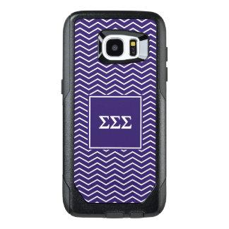 Sigma Sigma Sigma | Chevron Pattern OtterBox Samsung Galaxy S7 Edge Case