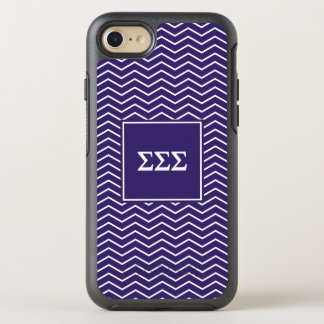 Sigma Sigma Sigma | Chevron Pattern OtterBox Symmetry iPhone 8/7 Case