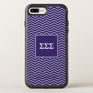 Sigma Sigma Sigma | Chevron Pattern OtterBox Symmetry iPhone 8 Plus/7 Plus Case