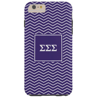 Sigma Sigma Sigma | Chevron Pattern Tough iPhone 6 Plus Case