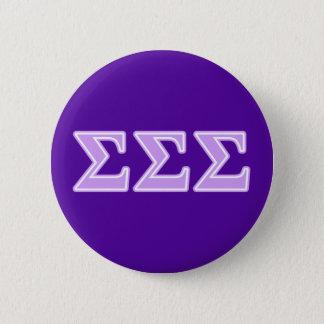 Sigma Sigma Sigma Lavender Letters 6 Cm Round Badge