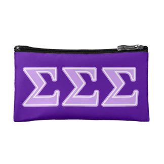 Sigma Sigma Sigma Lavender Letters Makeup Bag
