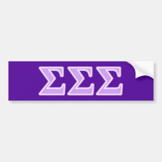 Sigma Sigma Sigma Lavender Letters Bumper Sticker