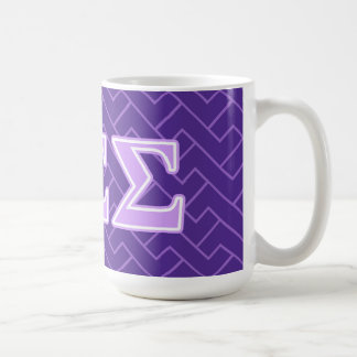 Sigma Sigma Sigma Lavender Letters Coffee Mug