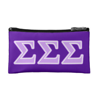 Sigma Sigma Sigma Lavender Letters Cosmetic Bags