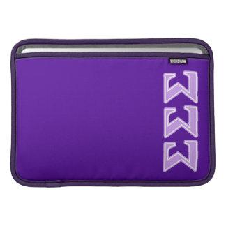 Sigma Sigma Sigma Lavender Letters MacBook Sleeve