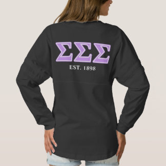 Sigma Sigma Sigma Lavender Letters Spirit Jersey