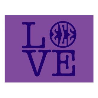 Sigma Sigma Sigma Love Postcard