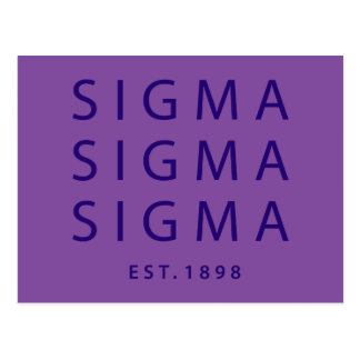 Sigma Sigma Sigma Modern Type Postcard