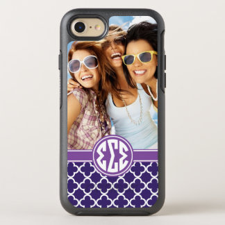 Sigma Sigma Sigma | Monogram and Photo OtterBox Symmetry iPhone 8/7 Case