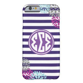 Sigma Sigma Sigma | Monogram Stripe Pattern Barely There iPhone 6 Case
