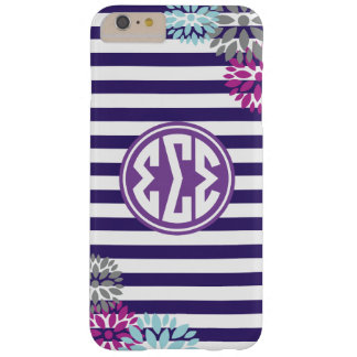 Sigma Sigma Sigma | Monogram Stripe Pattern Barely There iPhone 6 Plus Case