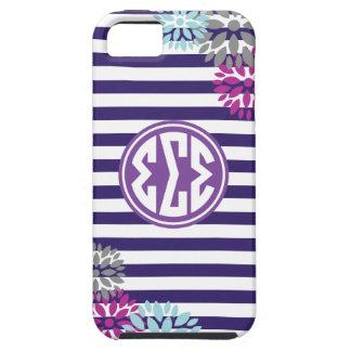 Sigma Sigma Sigma | Monogram Stripe Pattern iPhone 5 Case