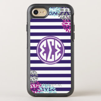 Sigma Sigma Sigma | Monogram Stripe Pattern OtterBox Symmetry iPhone 7 Case
