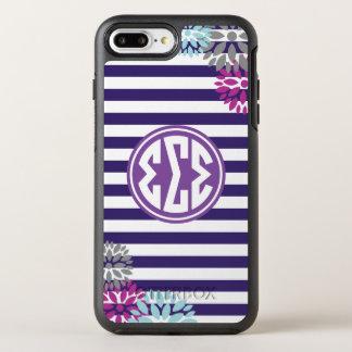 Sigma Sigma Sigma | Monogram Stripe Pattern OtterBox Symmetry iPhone 8 Plus/7 Plus Case