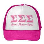 Sigma Sigma Sigma Pink Letters Cap