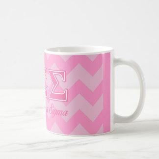 Sigma Sigma Sigma Pink Letters Coffee Mug