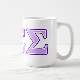 Sigma Sigma Sigma Purple and Lavender Letters Coffee Mug