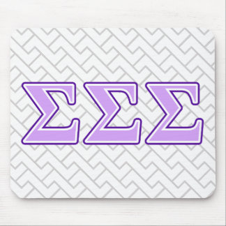 Sigma Sigma Sigma Purple and Lavender Letters Mouse Mat