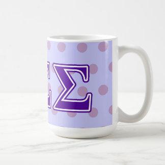 Sigma Sigma Sigma Purple Letters Coffee Mug