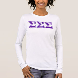 Sigma Sigma Sigma Purple Letters Long Sleeve T-Shirt