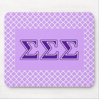 Sigma Sigma Sigma Purple Letters Mouse Mat