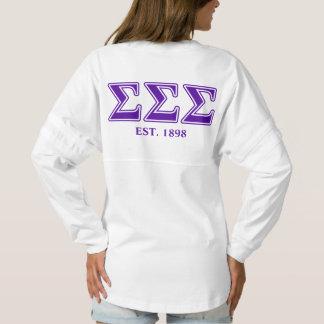 Sigma Sigma Sigma Purple Letters Spirit Jersey