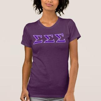 Sigma Sigma Sigma Purple Letters T-Shirt