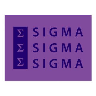 Sigma Sigma Sigma Stacked Postcard