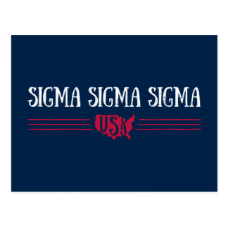 Sigma Sigma Sigma USA Postcard