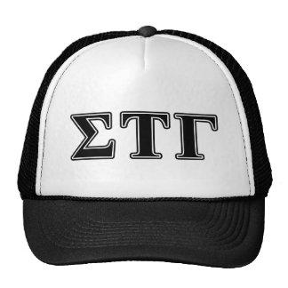Sigma Tau Gamma Black Letters Cap