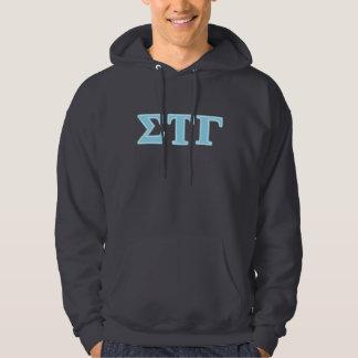Sigma Tau Gamma Blue Letters Hoodie