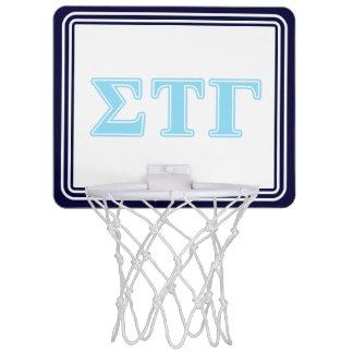 Sigma Tau Gamma Blue Letters Mini Basketball Hoop